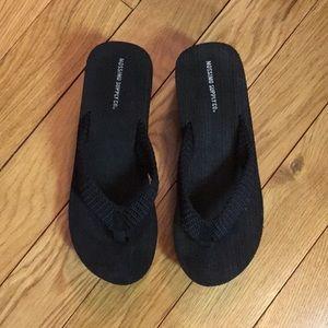 NWOB! Black platform flip flops